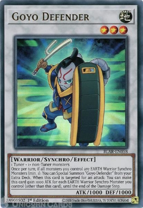 Picture of BLAR-EN058 Goyo Defender Ultra Rare 1st Edition Mint YuGiOh Card