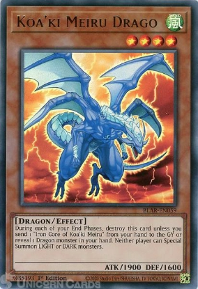 Picture of BLAR-EN059 Koa'ki Meiru Drago Ultra Rare 1st Edition Mint YuGiOh Card