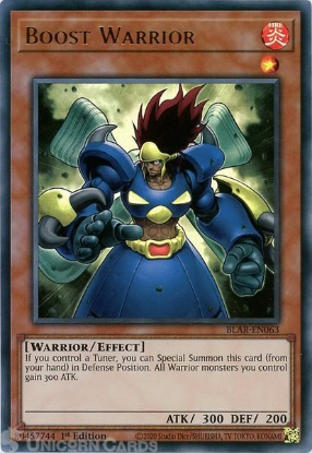 Picture of BLAR-EN063 Boost Warrior Ultra Rare 1st Edition Mint YuGiOh Card