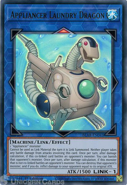 Picture of BLAR-EN041 Appliancer Laundry Dragon Ultra Rare 1st Edition Mint YuGiOh Card