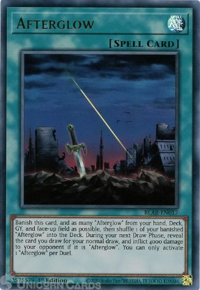 Picture of BLAR-EN017 Afterglow Ultra Rare 1st Edition Mint YuGiOh Card