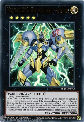 Picture of BLAR-EN070 Number S39: Utopia the Lightning Ultra Rare 1st Edition Mint YuGiOh Card
