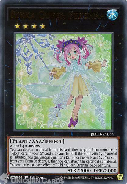 Picture of ROTD-EN046 Rikka Queen Strenna Ultra Rare 1st Edition Mint YuGiOh Card