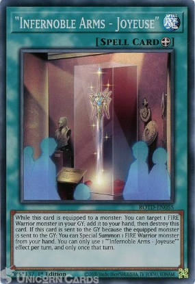 Picture of ROTD-EN055 Infernoble Arms - Joyeuse Super Rare 1st Edition Mint YuGiOh Card