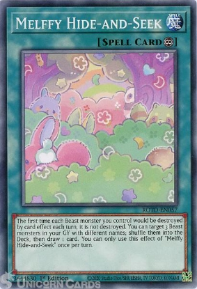 Picture of ROTD-EN057 Melffy Hide-and-Seek Common 1st Edition Mint YuGiOh Card