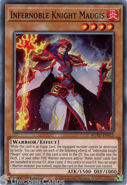 Picture of ROTD-EN015 Infernoble Knight Maugis Common 1st Edition Mint YuGiOh Card