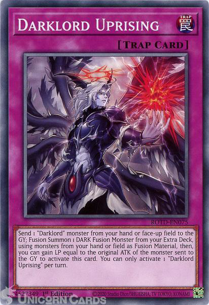 Picture of ROTD-EN075 Darklord Uprising Common 1st Edition Mint YuGiOh Card