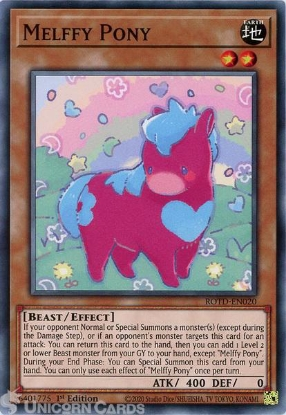 Picture of ROTD-EN020 Melffy Pony Common 1st Edition Mint YuGiOh Card