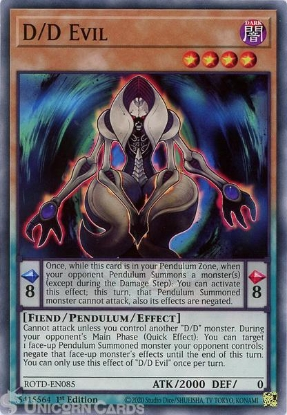 Picture of ROTD-EN085 D/D Evil Common 1st Edition Mint YuGiOh Card