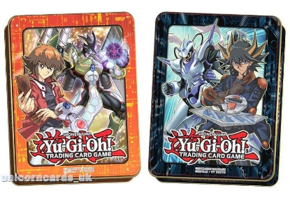 Picture of YuGiOh! Mega Tins 2018 x2 :: Jaden & Yusei - Both Designs ::Brand New and Sealed