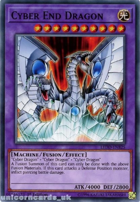 Picture of LEDD-ENB25 Cyber End Dragon 1st Edition Mint YuGiOh Card