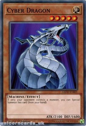 Picture of LEDD-ENB01 Cyber Dragon 1st Edition Mint YuGiOh Card