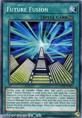 Picture of LEDD-ENB17 Future Fusion 1st Edition Mint YuGiOh Card