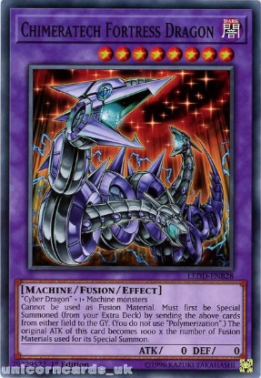 Picture of LEDD-ENB28 Chimeratech Fortress Dragon 1st Edition Mint YuGiOh Card