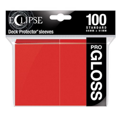 Picture of Ultra Pro Standard Sleeves - Gloss Eclipse - Apple Red (100 Sleeves) :: MTG/Pokemon Size ::