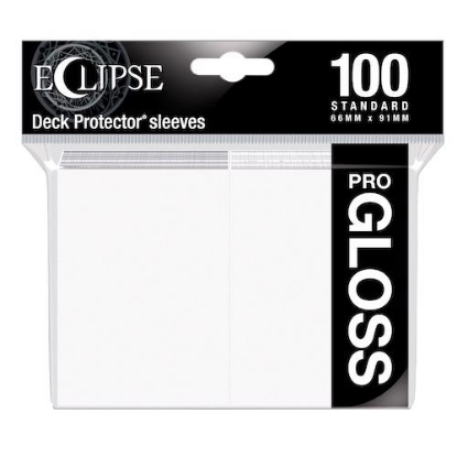 Picture of Ultra Pro Standard Sleeves - Gloss Eclipse - Arctic White (100 Sleeves) :: MTG/Pokemon Size ::