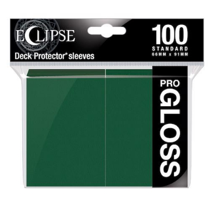 Picture of Ultra Pro Standard Sleeves - Gloss Eclipse - Forest Green (100 Sleeves) :: MTG/Pokemon Size ::