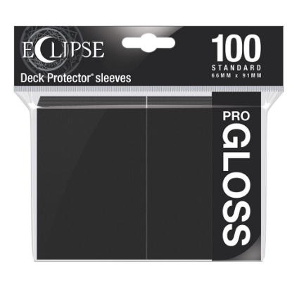 Picture of Ultra Pro Standard Sleeves - Gloss Eclipse - Jet Black (100 Sleeves) :: MTG/Pokemon Size ::