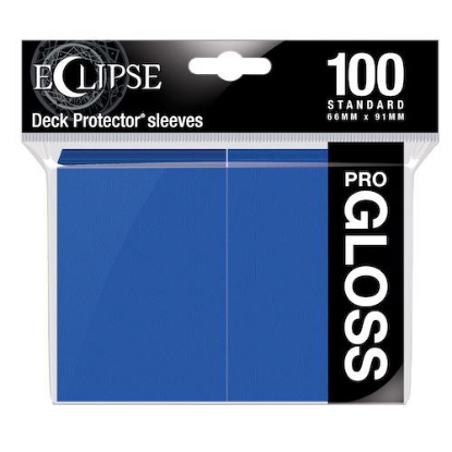 Picture of Ultra Pro Standard Sleeves - Gloss Eclipse - Pacific Blue (100 Sleeves) :: MTG/Pokemon Size ::