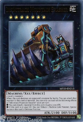 Picture of MP20-EN213 Infinitrack Mountain Smasher Ultra Rare 1st Edition Mint YuGiOh Card
