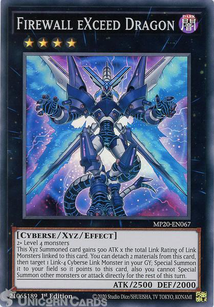 Picture of MP20-EN067 Firewall eXceed Dragon Super Rare 1st Edition Mint YuGiOh Card