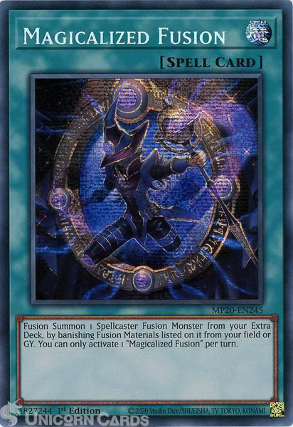 Picture of MP20-EN245 Magicalized Fusion Prismatic Secret Rare 1st Edition Mint YuGiOh Card