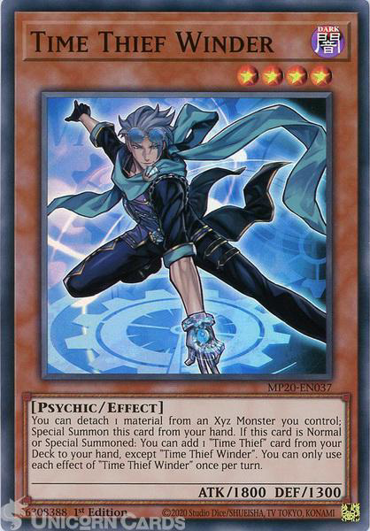Picture of MP20-EN037 Time Thief Winder Super Rare 1st Edition Mint YuGiOh Card