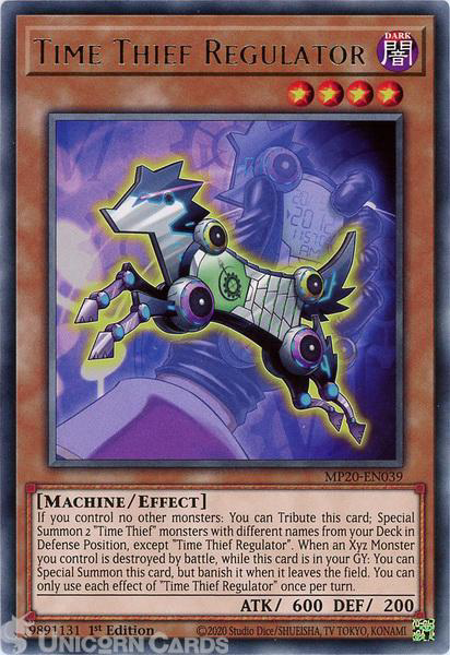 Picture of MP20-EN039 Time Thief Regulator Rare 1st Edition Mint YuGiOh Card