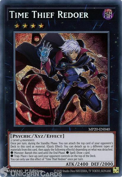 Picture of MP20-EN040 Time Thief Redoer Prismatic Secret Rare 1st Edition Mint YuGiOh Card