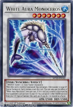 Picture of MP20-EN142 White Aura Monoceros Rare 1st Edition Mint YuGiOh Card