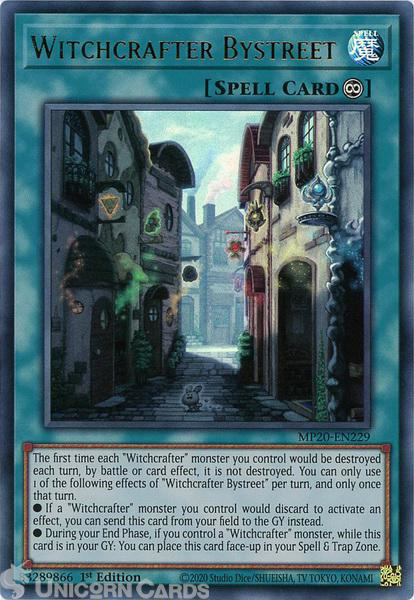 Picture of MP20-EN229 Witchcrafter Bystreet Ultra Rare 1st Edition Mint YuGiOh Card