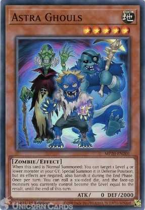 Picture of MP20-EN201 Astra Ghouls Super Rare 1st Edition Mint YuGiOh Card