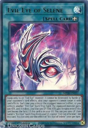 Picture of MP20-EN237 Evil Eye of Selene Ultra Rare 1st Edition Mint YuGiOh Card