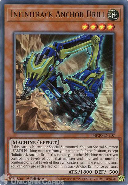 Picture of MP20-EN207 Infinitrack Anchor Drill Ultra Rare 1st Edition Mint YuGiOh Card