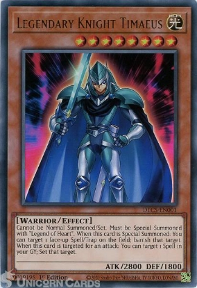 Picture of DLCS-EN001 Legendary Knight Timaeus Ultra Rare 1st Edition Mint YuGiOh Card