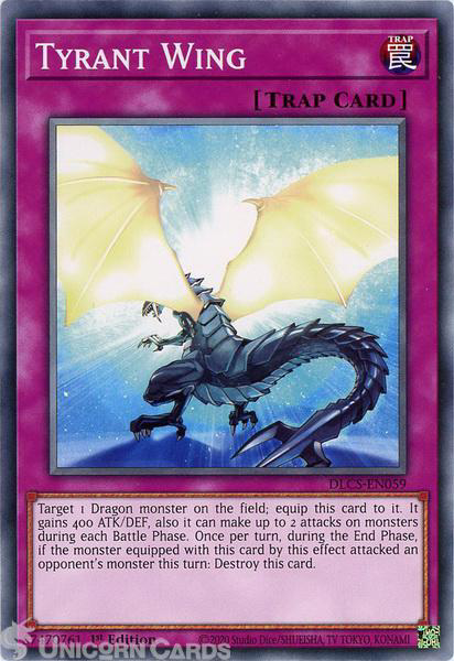 Picture of DLCS-EN059 Tyrant Wing Common 1st Edition Mint YuGiOh Card
