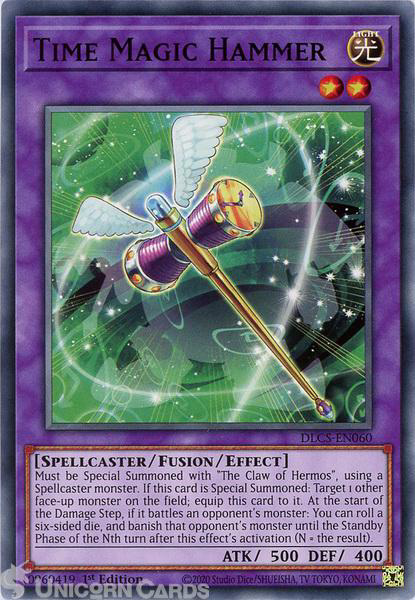 Picture of DLCS-EN060 Time Magic Hammer Common 1st Edition Mint YuGiOh Card