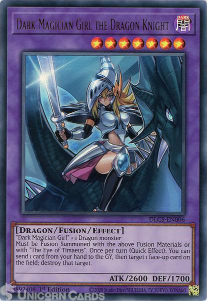Picture of DLCS-EN006 Dark Magician Girl the Dragon Knight Ultra Rare 1st Edition Mint YuGiOh Card