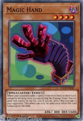 Picture of DLCS-EN047 Magic Hand Common 1st Edition Mint YuGiOh Card