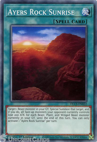 Picture of DLCS-EN022 Ayers Rock Sunrise Common 1st Edition Mint YuGiOh Card