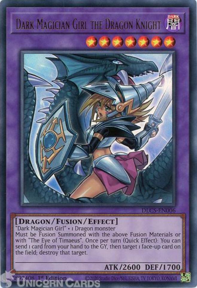 Blue Ultra Rare DLCS-EN006-B Dark Magician Girl the Dragon Knight ALT ART