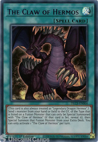 Picture of DLCS-EN064-B The Claw of Hermos :: Blue :: Ultra Rare 1st Edition Mint YuGiOh Card