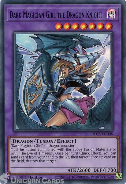 Picture of DLCS-EN006-B Dark Magician Girl the Dragon Knight ALT ART :: Blue :: Ultra Rare 1st Edition Mint YuGiOh Card