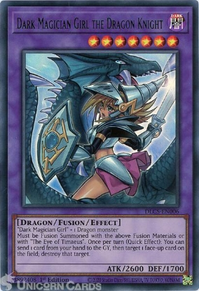 Picture of DLCS-EN006-G Dark Magician Girl the Dragon Knight ALT ART :: Green :: Ultra Rare 1st Edition Mint YuGiOh Card
