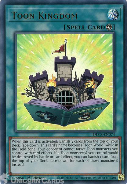 Picture of DLCS-EN074 Toon Kingdom Ultra Rare 1st Edition Mint YuGiOh Card
