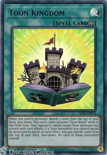 Picture of DLCS-EN074-B Toon Kingdom :: Blue :: Ultra Rare 1st Edition Mint YuGiOh Card