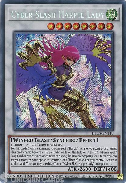 Picture of DLCS-EN148 Cyber Slash Harpie Lady Secret Rare Limited Edition Mint YuGiOh Card