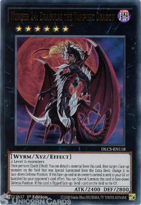 Picture of DLCS-EN118 Number 24: Dragulas the Vampiric Dragon Ultra Rare 1st Edition Mint YuGiOh Card