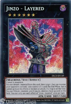 Picture of DLCS-EN149 Jinzo - Layered Secret Rare Limited Edition Mint YuGiOh Card