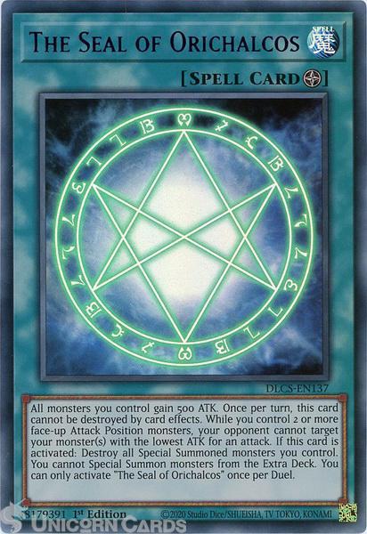 Picture of DLCS-EN137-P The Seal of Orichalcos :: Purple :: Ultra Rare 1st Edition Mint YuGiOh Card